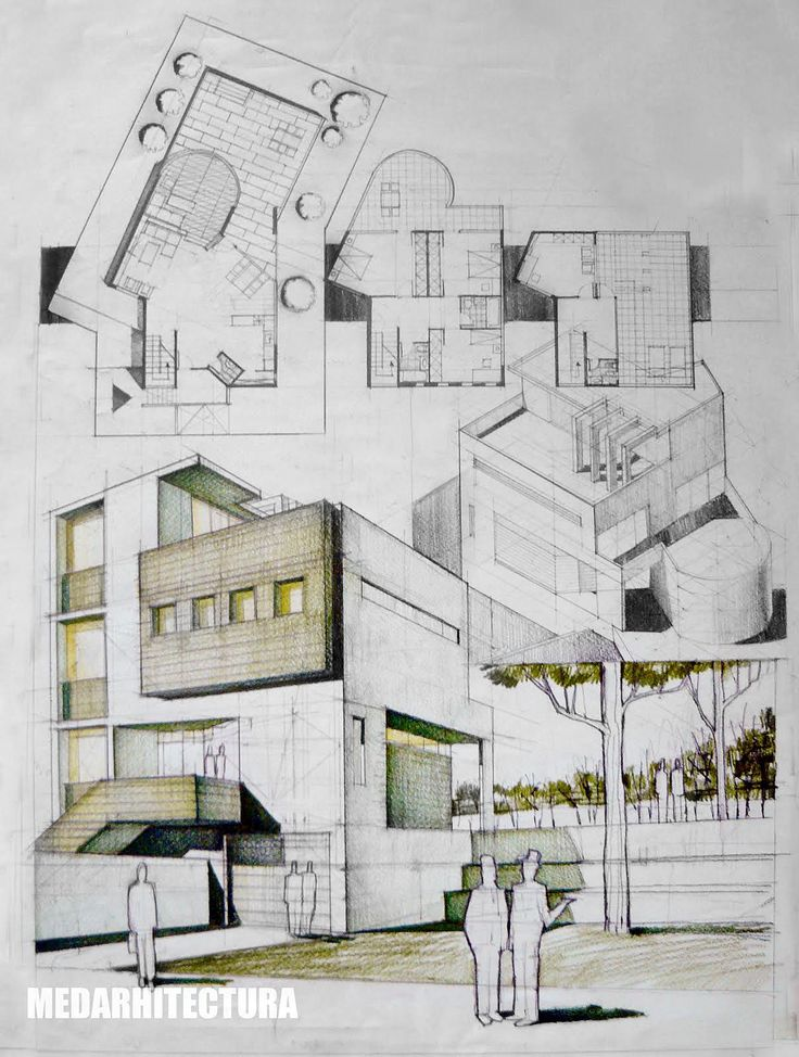 Contemporary House Drawing