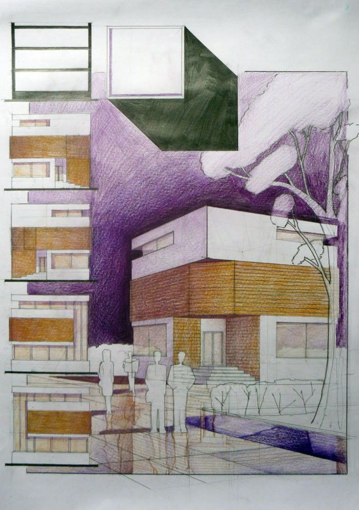 Cube House Student Design architectural Drawing