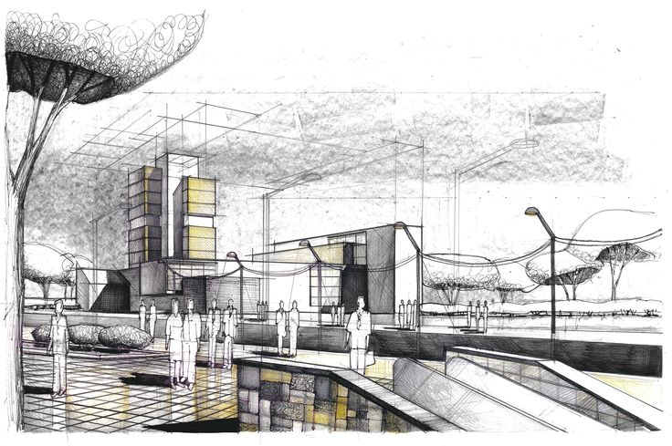 Large scale Volumes Composition Architectural Drawing