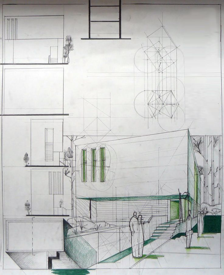 Minimalist House Design Architectural Sketch