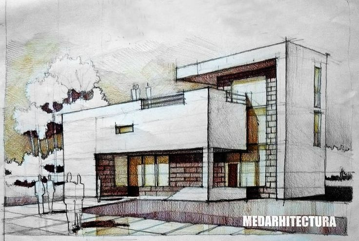 Architectural Drawings Of Modern Houses contemporary house architectural drawing | arch-student