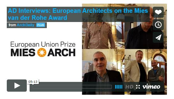 European Architects on the Mies van der Rohe Award  Interview