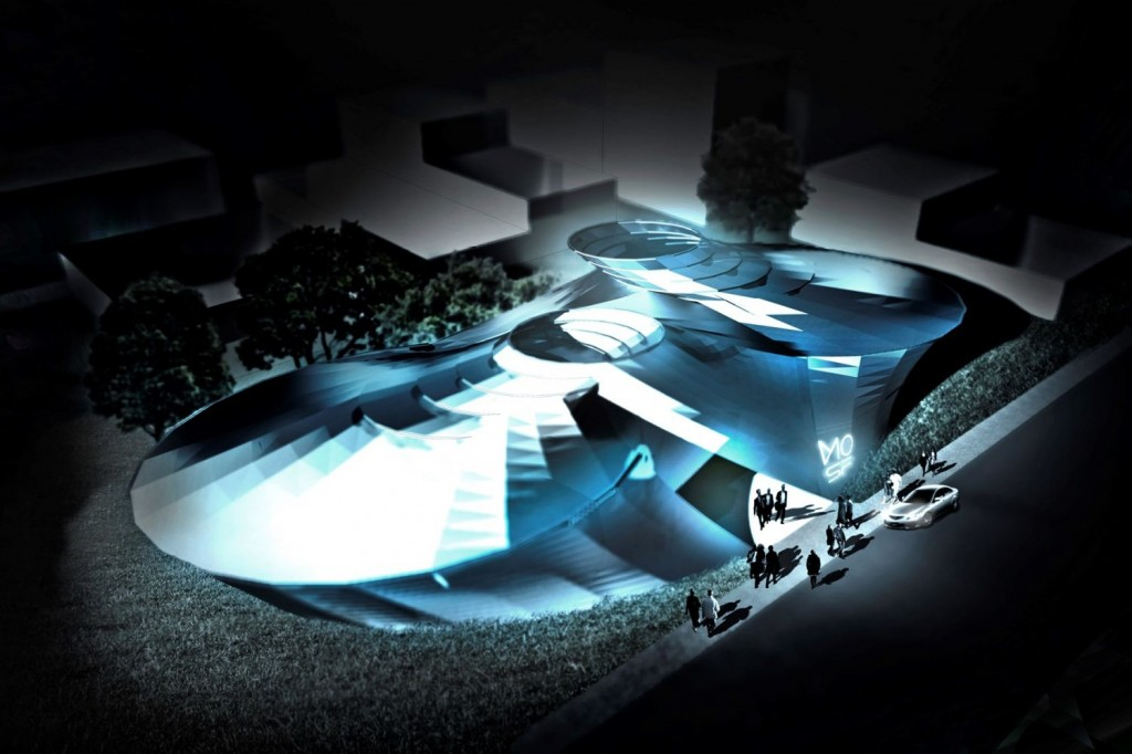 General view museum of science fiction architecture student project concept design