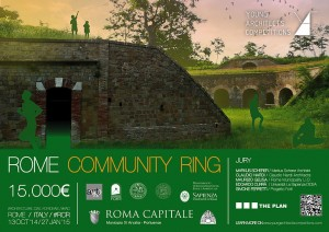 Register early for the Rome Community Ring open competition | architects, designers, students