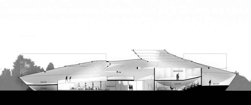 Section 1 museum of science fiction architecture student project concept design