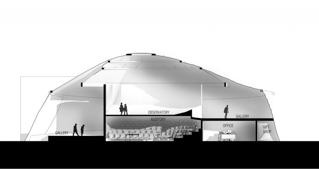 Section 2 museum of science fiction architecture student project concept design
