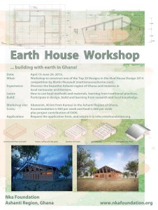 2015-2016 EARTH ARCHITECTURE WORKSHOPS: CALL FOR PARTICIPANTS