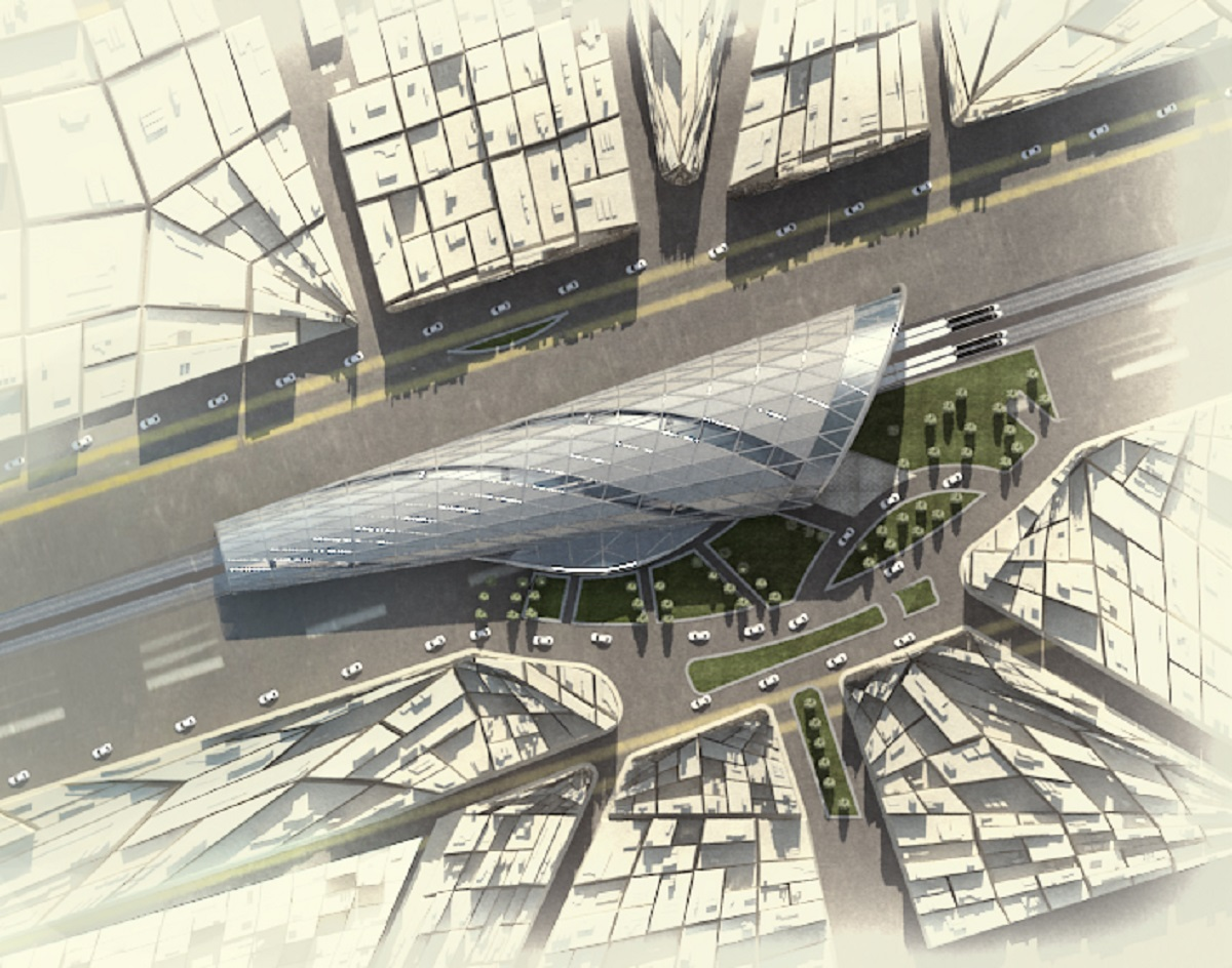 Ismailia train station architecture concept design arch for Is architecture