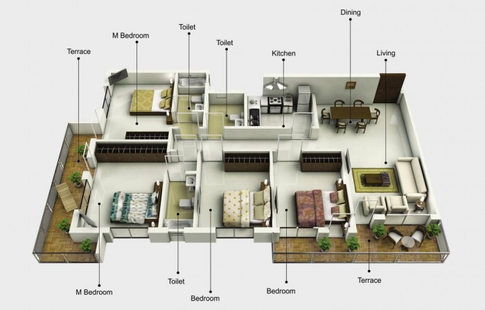 Photo-realistic 3D Floor Plan