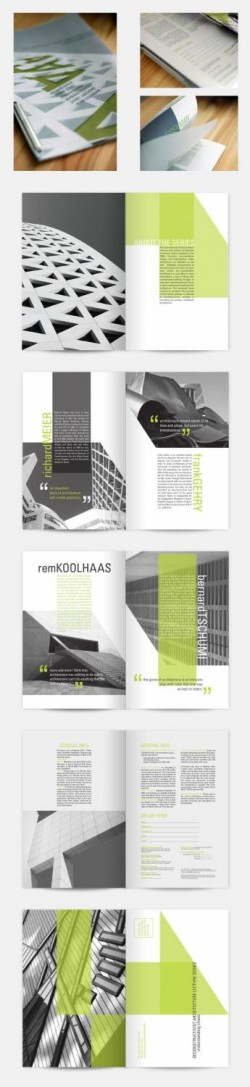 A brochure for a fictional deconstructivst architecture lecture series