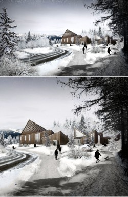 Hatlehol Church Winter Rendering