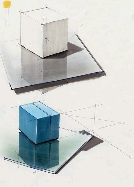 Cube Reflections Drawing