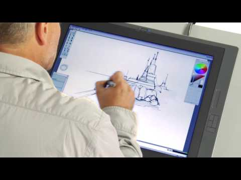 ARCHITECTURE IN SKETCHBOOK PRO USING A CINTIQ