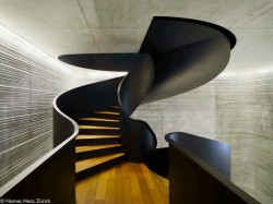Beautiful Modern Stair Design – Wood & Black