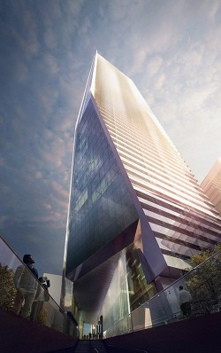 High Building Architectural Rendering