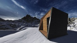 Krivan – house for mountaineers__task was to design an experimental living in cube with di ...