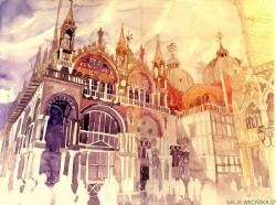 Classical Architecture Watercolor