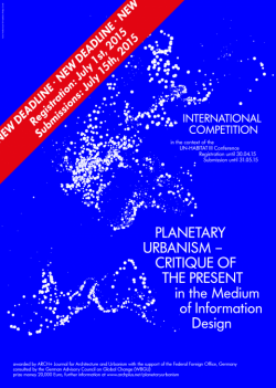 PLANETARY URBANISM – CRITIQUE OF THE PRESENT – INTERNATIONAL COMPETITION