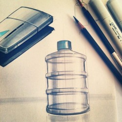 Objects design – markers sketch
