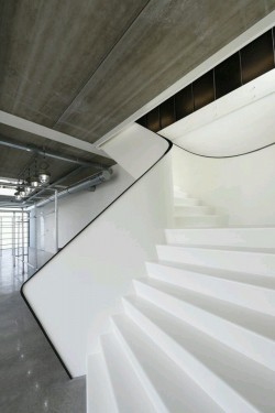 Beautiful White Stair Design