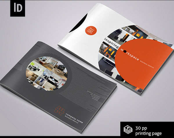 Interior design brochure template arch for Graphic design brochure templates