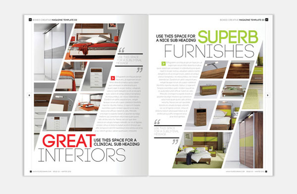 Interior design brochure template arch for Interior design brochure