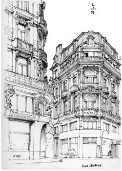 Old architectural drawings