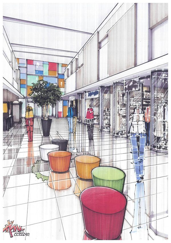 Mall Interior Design Perspective