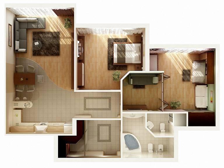 Photo-realistic 2D Floor Plan