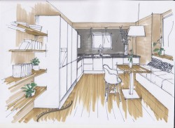 1 point interior perspective