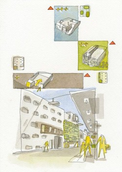 Watercolour Architectural drawing