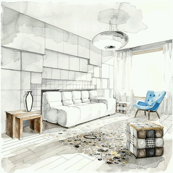 Room Design Drawing living room design drawing | arch-student