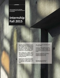 Internship at Henning Larsen Architects.
