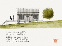 Architectural Sketch Facade View