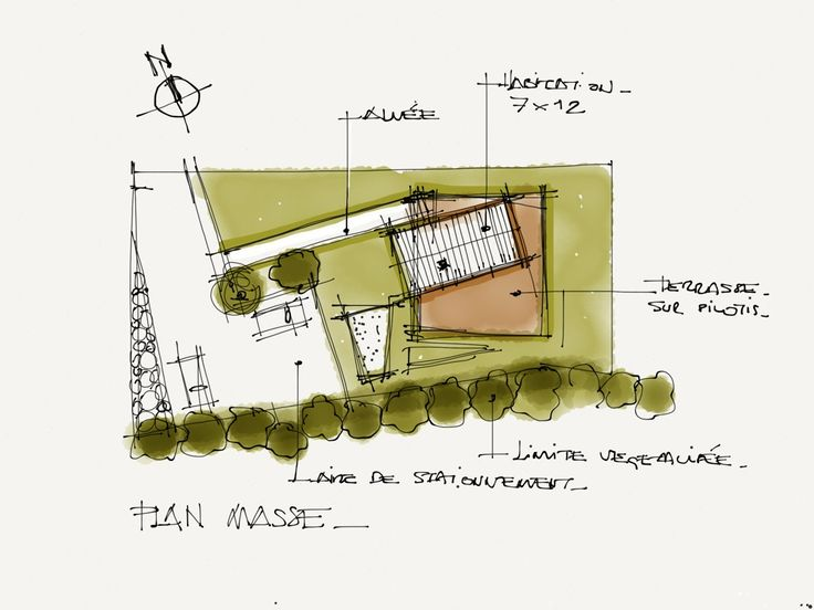 Architectural Sketch Site Plan