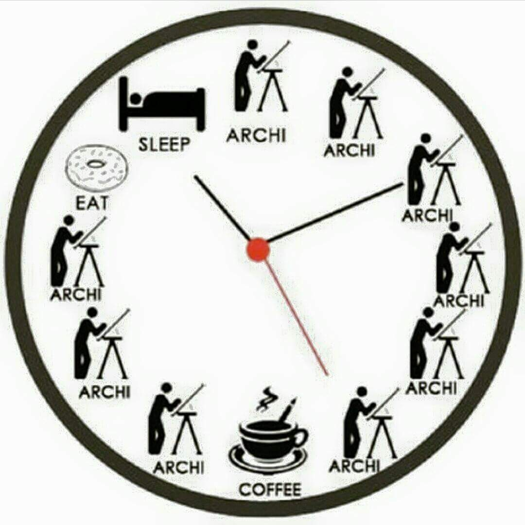 Architecture Student perfect clock in a day of architecture student | arch-student