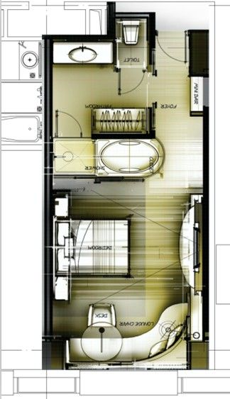 Interior design floorplan sketch