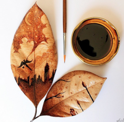 Drawing with coffee