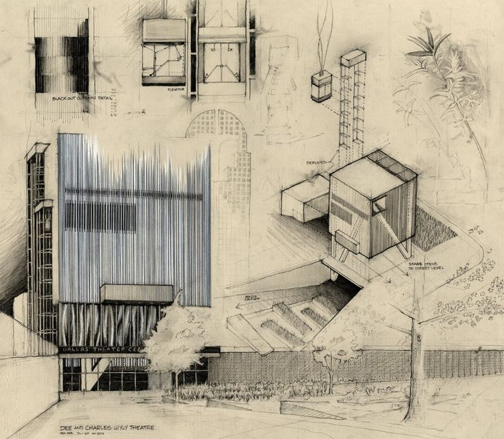 Drawing Competition Among Notable Architects Cocktail