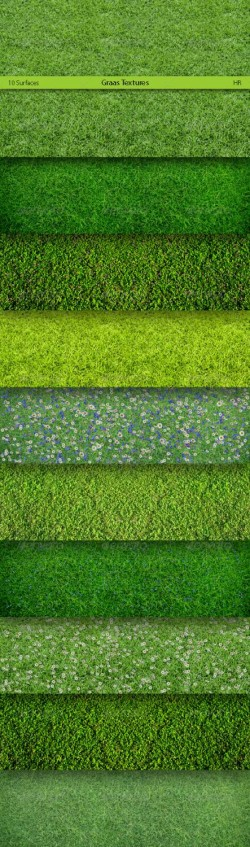 Different Grass Surfaces Texture Backgrounds | GraphicRiver