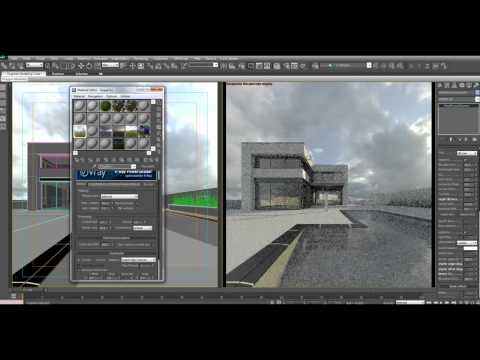 How to setup HDRI lighting in 3dsmax with VRay on Modern House Tutorial