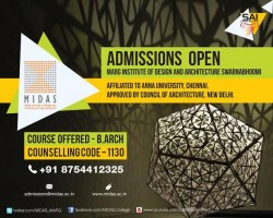 ADMISSIONS OPEN – Marg Institute of Design and Architecture, Swarnabhoomi (MIDAS)