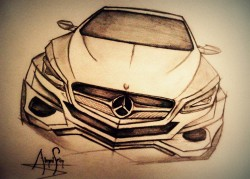 Mercedes concept drawing