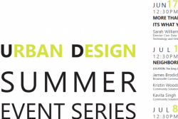 Urban design Summer Series
