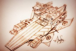Starship drawing
