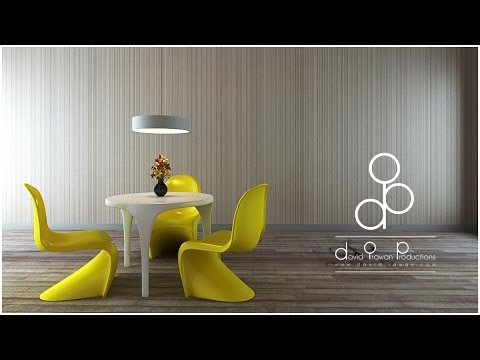Timelapse; 3d max modelling and vray Rendering how to; Dining Room – step by step