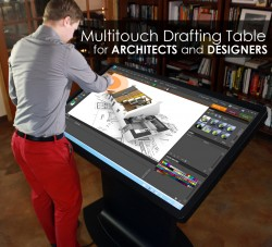 Multitouch Drafting Table for ARCHITECTS, DESIGNERS and ENGINEERS