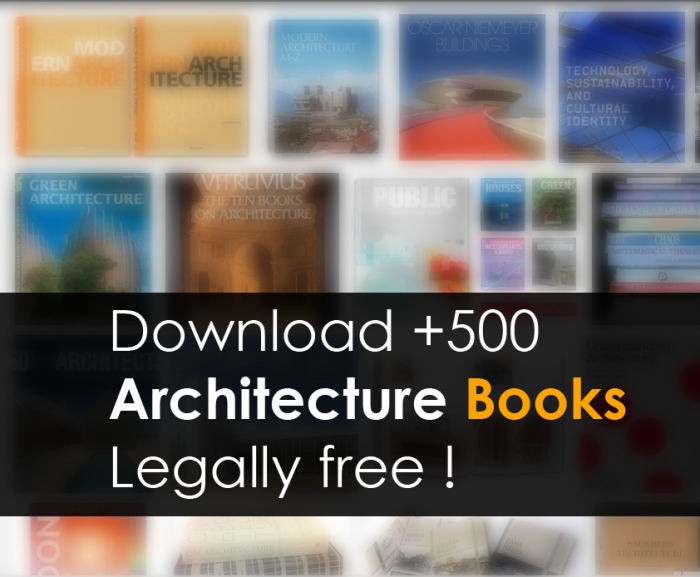 Download +500 Architecture Books Legally free !