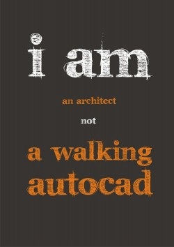 I am an ARCHITECT not a walking Autocad