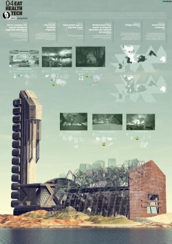 Architectural poster of Roosevelt Center / Pablo Humanes Architecture found more on Found on pab ...